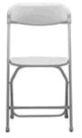 Rental store for FOLDING CHAIR  WHITE in Pipersville PA