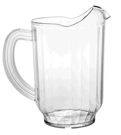 Where to find PITCHER  60 OZ -CLEAR PLASTIC in Pipersville