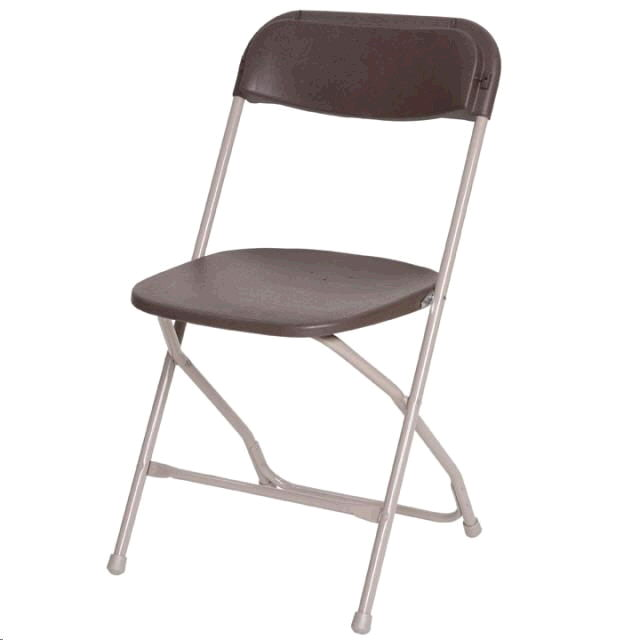 Where to find FOLDING CHAIR   BROWN in Pipersville