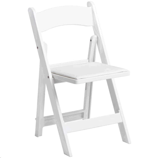 Where to find WOOD FOLDING CHAIR  WHITE in Pipersville