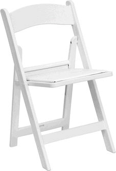 Where to find Chair- White Resin w  Padded Seat in Pipersville